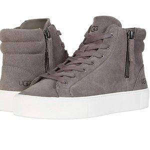 UGG Olli Mole Gray High Top Sneakers 9.5 EUR 40.5